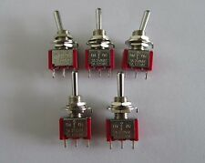 5pcs Guitar Mini Toggle Switch SPDT 3 Pin 3 Way ON/OFF/ON Switches
