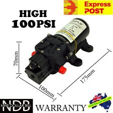 12V Water Pump 5Lpm Self-Priming Caravan 100Psi High Pressure FAST POST & WNTY