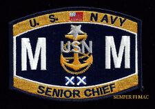* MMCS MACHINIST MATE SENIOR CHIEF RATING HAT PATCH US NAVY PIN UP USS USN GIFT