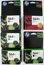 5-PACK HP GENUINE 564XL Black & Color Ink  Photosmart 7520 C6380 C6350 EXP 2018
