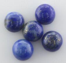 5 pezzi di 4mm ROUND cabochon-cut naturale cinese i Lapislazzuli Gemme £ 1 NR