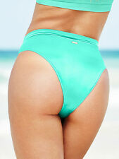 Victoria's Secret HIGH WAIST Bikini Bottom Cheeky Seafoam Glow Size Small SEXY!