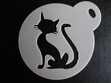 Laser cut small cat silhouette design cake,cookie,craft & face painting stencil