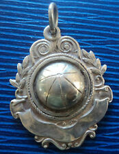Irish Sterling Silver Gaelic Football Fob Medal - Dublin 1942  not engraved