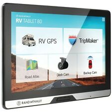 "NEW Rand Mcnally 0528013475 Rv Tablet 80 8"" Gps Device With Built-in Dash C"