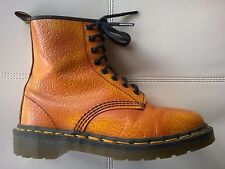 DOC DR MARTENS ORANGE FLORAL BOOTS MADE IN ENGLAND RARE VINTAGE 5UK US: WOMENS 7