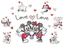 "Disney's Mickey and Minnie Mouse Valentines ""Love Love"" Cross Stitch Pattern CD"