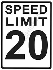 """SPEED LIMIT  20MPH - NEW ALUMINUM SIGN - 9"""" X 12""""  road and street signs -"""