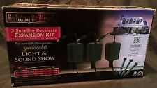 Holiday Brilliant SPECTACULAR LIGHT & SOUND 3 Satellite Receivers Expansion Kit
