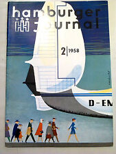 HAMBURGER JOURNAL 1958  Presse Design 50er 50ies HH St. Pauli Hamburg antik