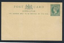 GIBRALTAR Queen Victoria 1886 to 1898 A Unique Collection of Postal Stationery