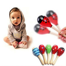 Baby Kids Sound Music Gift Toddler Rattle Musical Wooden Colorful Toys Hot Cute