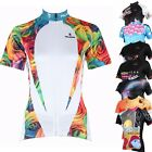 Women Cycling Sport Jersey Bicycle Wear Clothing Short Sleeve Shirt Tops S-3XL