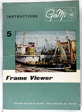 Original GaMi 16 Manual for Frame Viewer, 4 pages, no print date