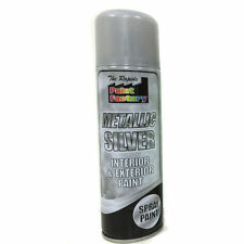 Metallic Silver Spray Paint Interior & Exterior Spray Can 250ml On Sale