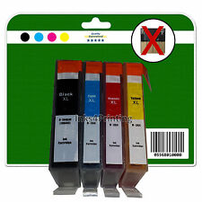 4 non-chipped non-OEM Ink Cartridges for HP B110a B110c B110d B110e 364 x4 XL