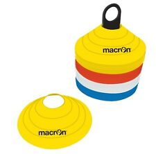 Set 48 Cinesini MACRON Marker h 5 cm Delimitatori Conetti Coni Calcio Volley