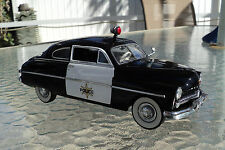 1949  FORD MERCURY CLUB COUPE POLICE CRUISER - 1:24 DIECAST - DANBURY MINT