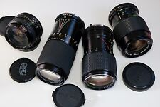 Job Lot Pentax K fit lenses Ensinor 24mm 2.8, Carl Zeiss, Tokina & Vivitar zooms