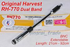 Genuine Harvest RH770 Centre Load Telescopic DUAL BAND Antenna BNC Icom Marantz