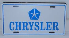 CHRYSLER with PENTSTAR BLUE  WHITE BACKROUND LICENSE PLATE ALUMINUM  MADE IN USA