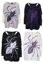 S11 New Womens  Mohair Fluffy Ladies Plus Size Jumper .