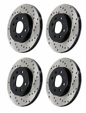 STOPTECH MITSUBSISHI EVO X 10 MR GSR FRONT AND REAR DRILLED BRAKE ROTORS DISCS