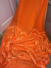 "3 MTR NEON ORANGE SATIN LINING FABRIC...58"" WIDE"