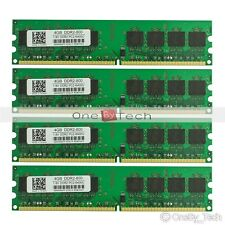 16GB (4x4GB) PC2-6400 DDR2-800Mhz 240pin DIMM Desktop Memory Low Density 1.8v