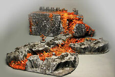 Fantasy Dragon Fire Fortress Rampart Lava Flow River Ash Sigmar Malifaux AD&D