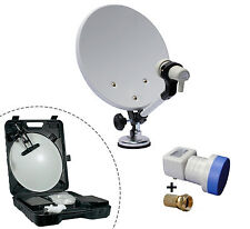 KIT PARABOLE CAMPING CAR + LNB 1 TV - Valise de transport - Expedition 24h