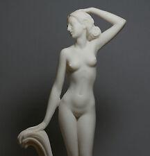 Goddess APHRODITE Venus Nude Naked Female Figure Alabaster Statue Sculpture 12''