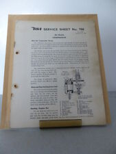 1950's BSA Motor Cycle All Models Service Sheets Carburation - Regulator