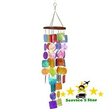 Urban Trends Capiz Wind Chime Yard Garden Outdoor Home Living Colorful New Gift