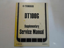 1980 Yamaha DT100G Supplementary Service Manual FACTORY OEM BOOK 80 FADED COVER