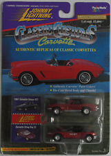 Johnny Lightning Corvette 2-Pack - ´67 Coupe 427 rotbraun + Sting Ray III rotmet