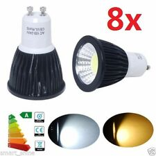 8X GU10 9W DIMMABLE CREE COB LED spot Light Bulb Downlight lamps Black Warm Wh