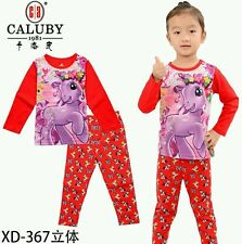 Pony Horse (Red) Caluby Long Sleeves Pyjamas 2T-7T