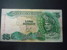 MALAYSIA 6TH $5 WITH CROSS NP0170075 VF