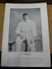 1895 Cricket: Famous Plate/Picture - Phillips, Jim [Middlesex] - on reverse - He