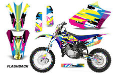 AMR Racing Yamaha YZ85 Number Plate Graphics Kit MX Bike Wrap Decals 15-17 FLASH