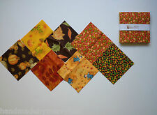 "Harvest Fall Patterns Charm Pack Quilt Fabric 42 pieces -  5"" squares"