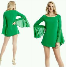 GUESS BY MARCIANO GREEN TUNIC TOP DRESS SIZE XS