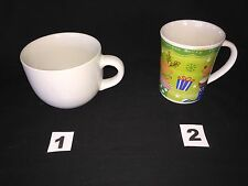 Choose From Either 2 Cups Soup Large Capacity White Or Christmas Cup Lot Of 2