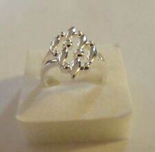 BAGUE Marquise RING ANELLO ARGENT 925 SILVER Ring S.58 - 8 / New