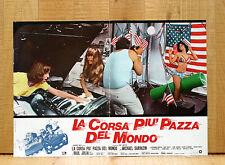 LA CORSA PIU' PAZZA DEL MONDO fotobusta poster The Gumball Rally  Car Race 1976