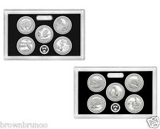 2015S + 2014S SILVER PROOF Mint National Park Quarter ATB 10 Coins NO BOX COA