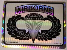 Window Bumper Sticker Military Army Airborne Jump Wings NEW Prismatic #3