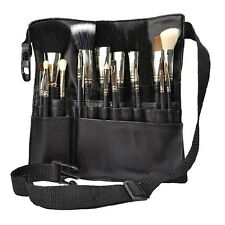 22 Pockets Makeup Brush Bag Cosmetic Products PVC Apron with Artist Belt Strap