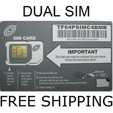 NET10 DUAL SIM CARD GETS UNLIMITED TALK-TEXT-DATA $35 MO AT&T NETWORK BY NET10